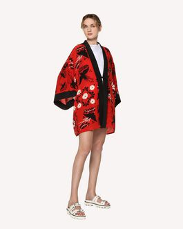 REDValentino Decorated Terrace printed silk kimono