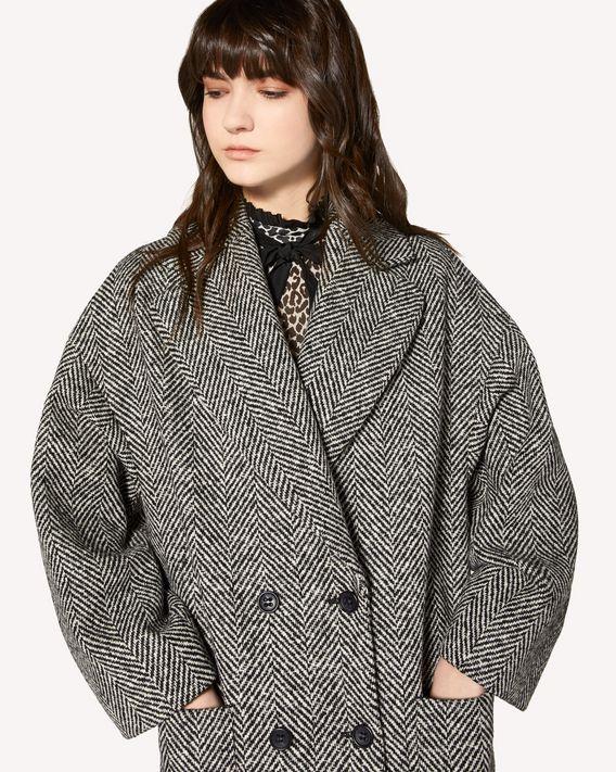 REDValentino Macro wool chevron coat