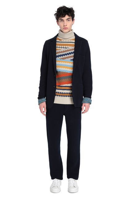 MISSONI Jacket Dark blue Man - Front