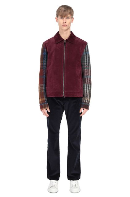 MISSONI Lightweight Jacket Maroon Man - Front