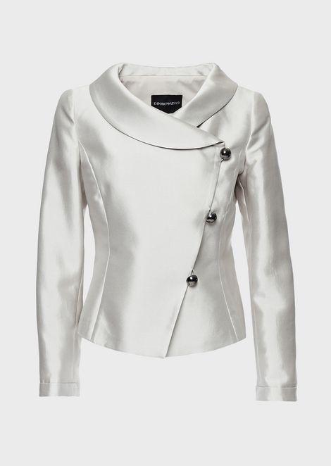 ジャケット シルク&コットンラズミール製 斜めボタン