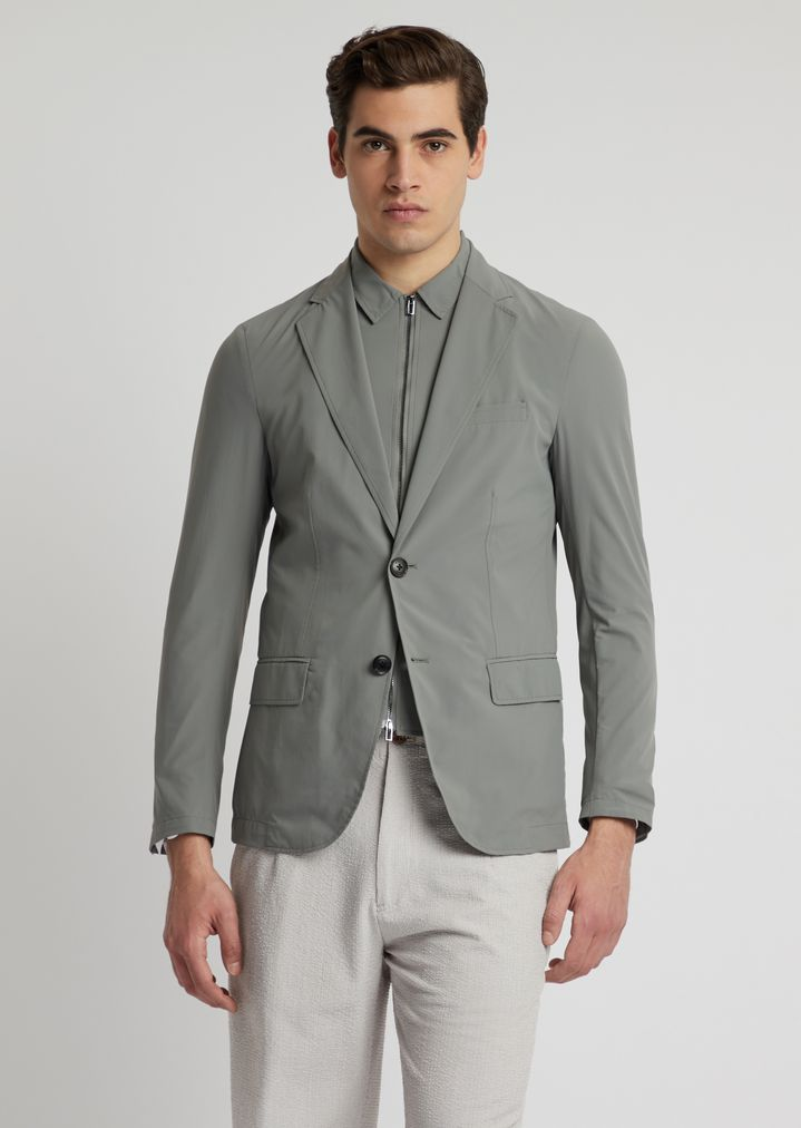 25dfa24ef1 Single-breasted jacket with removable under-jacket in super-light nylon