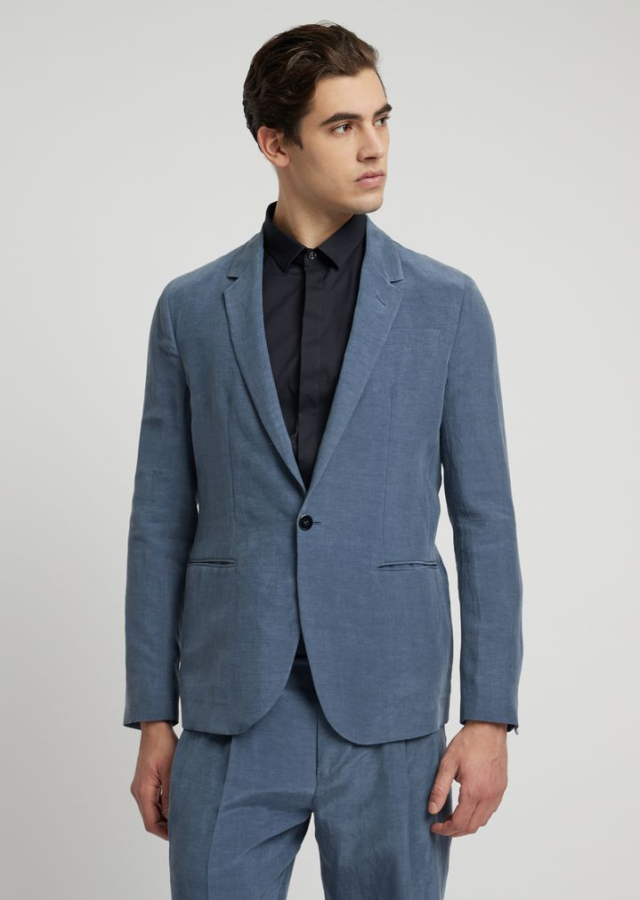 8ed034eb25 Single-breasted jacket in cupro linen