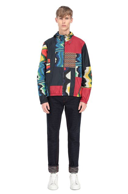 MISSONI Windbreaker Blue Man - Front