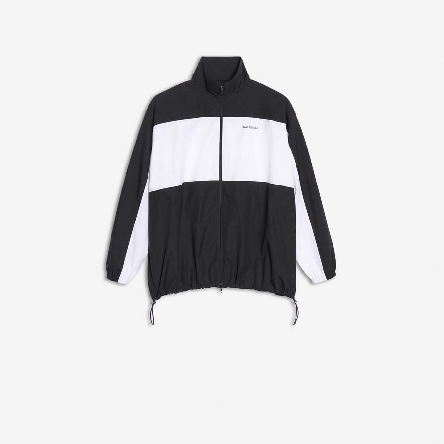 Zip Up Jacket BLACK / WHITE for Men