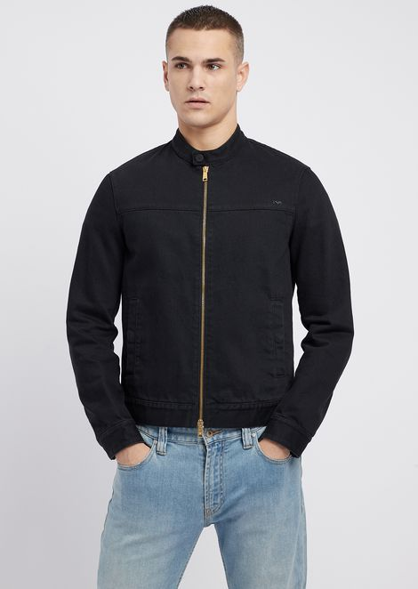 Bull cotton blouson with zip