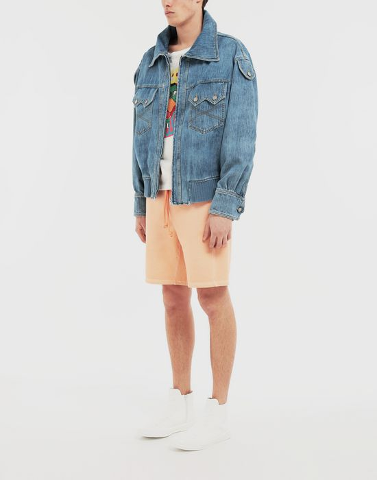 MAISON MARGIELA Bleached indigo denim sportsjacket Coat [*** pickupInStoreShippingNotGuaranteed_info ***] d