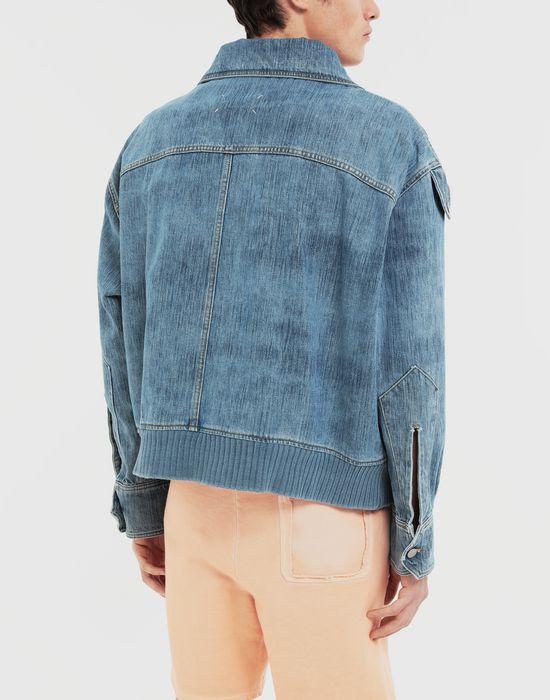 MAISON MARGIELA Bleached indigo denim sportsjacket Coat [*** pickupInStoreShippingNotGuaranteed_info ***] e