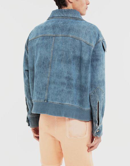 MAISON MARGIELA Bleached indigo denim sports jacket Coats and Trenches Man e