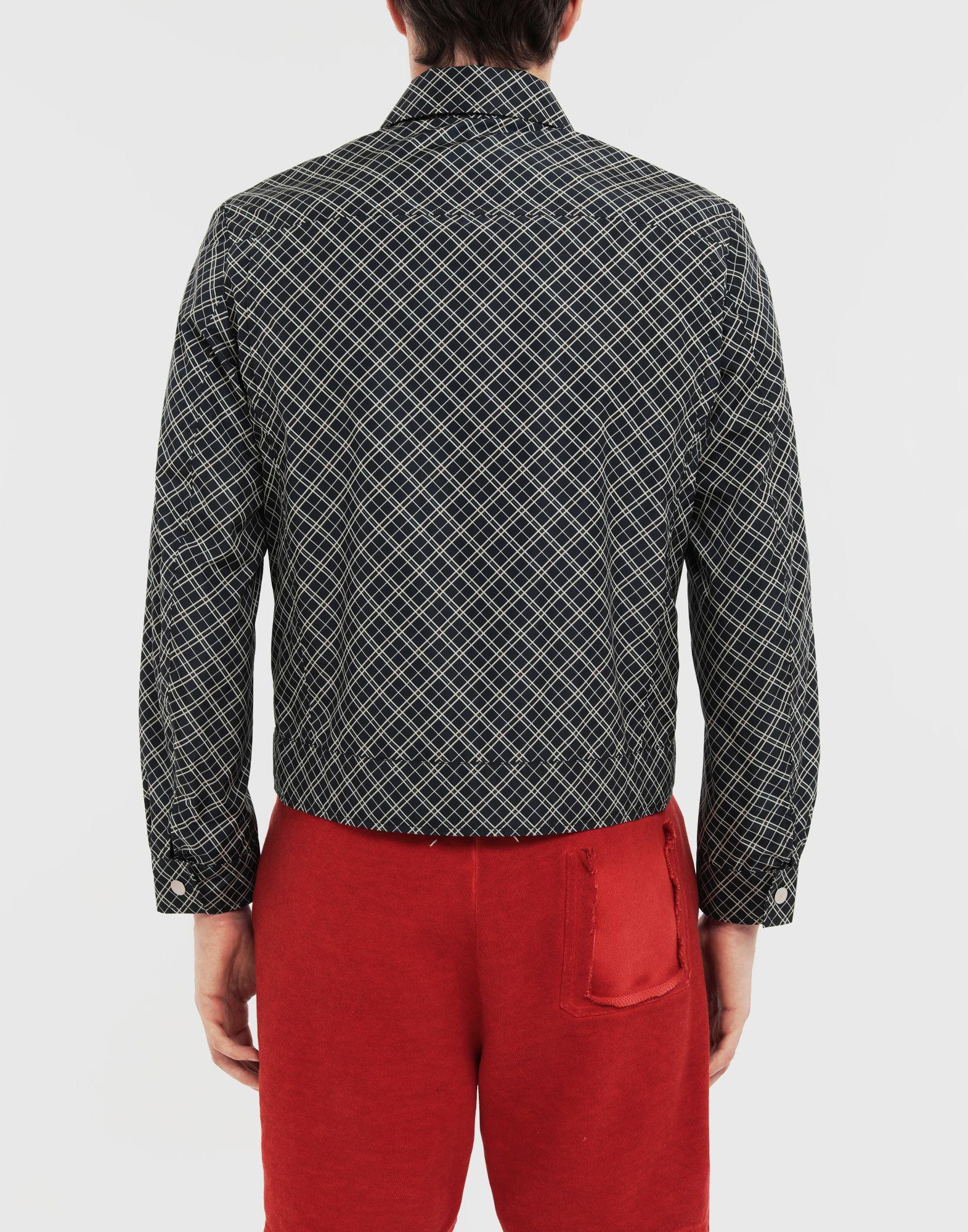 MAISON MARGIELA Checked sports jacket Coats and Trenches Man e