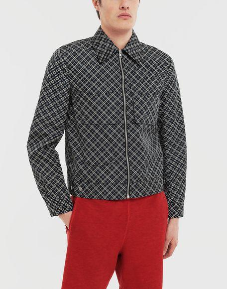 MAISON MARGIELA Checked sports jacket Coats and Trenches Man r