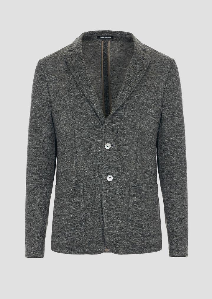 fa8b584a0a Single-breasted blazer in faded linen jersey