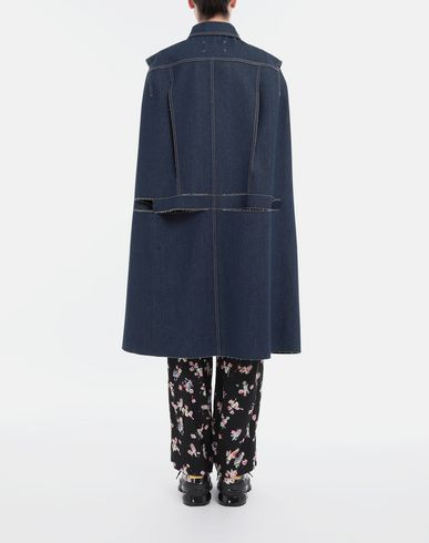 COATS & JACKETS Décortiqué denim cape coat