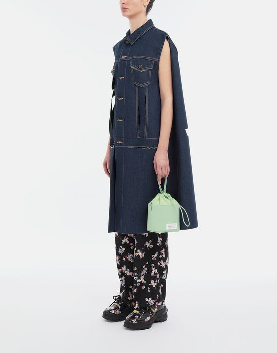 MAISON MARGIELA Décortiqué denim cape coat Coat [*** pickupInStoreShipping_info ***] d