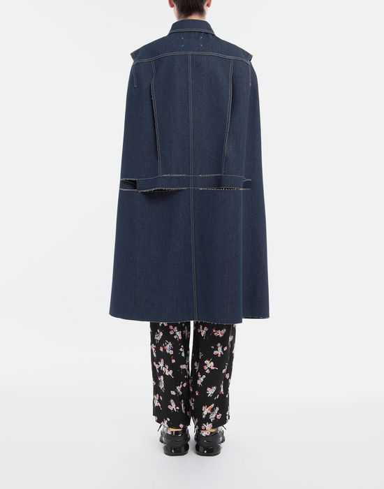 MAISON MARGIELA Décortiqué denim cape coat Coat [*** pickupInStoreShipping_info ***] e