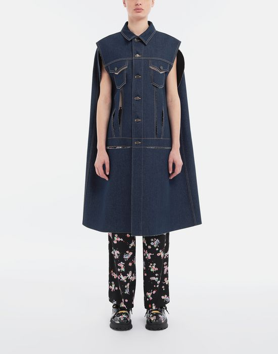 MAISON MARGIELA Décortiqué denim cape coat Coat [*** pickupInStoreShipping_info ***] r