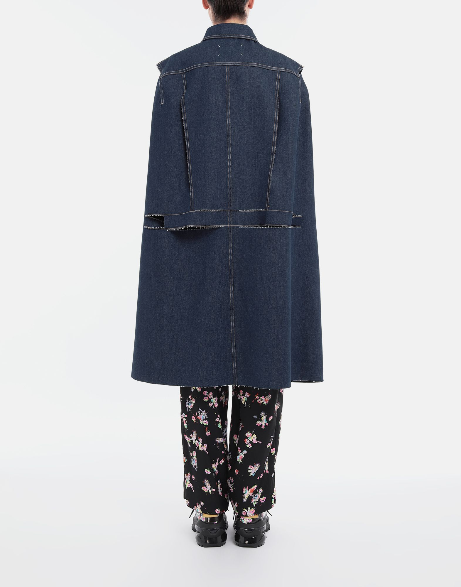 MAISON MARGIELA Décortiqué denim cape coat Coat Woman e