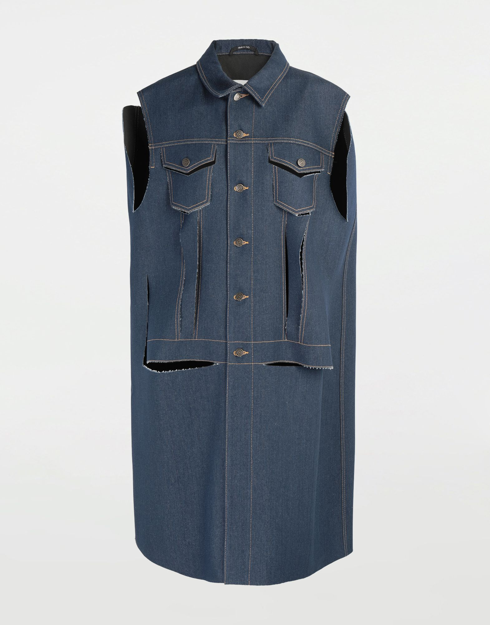 MAISON MARGIELA Décortiqué denim cape coat Coat Woman f
