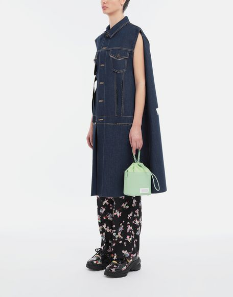 MAISON MARGIELA Décortiqué denim cape coat Coat Woman d