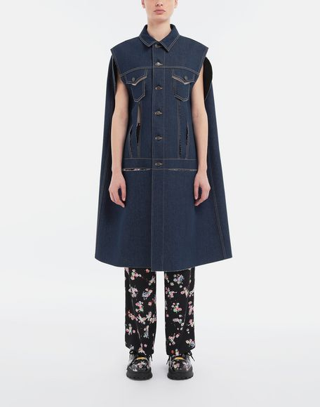 MAISON MARGIELA Décortiqué denim cape coat Coat Woman r