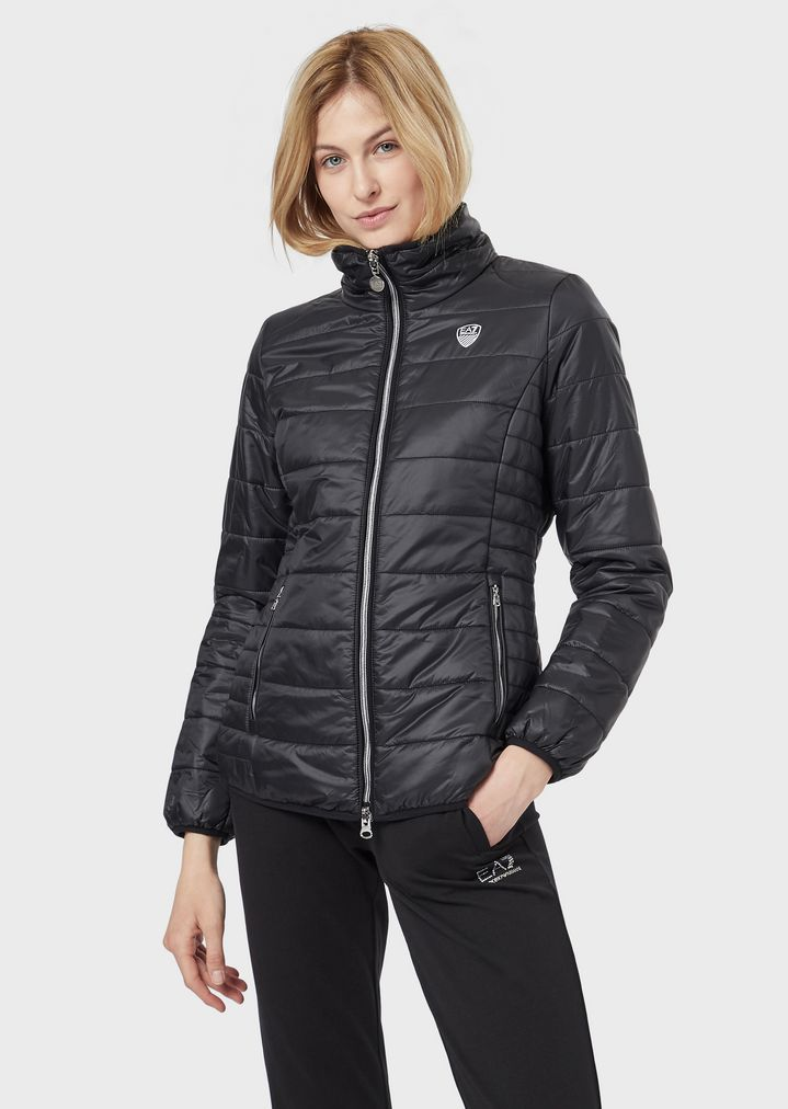 8d3200181f Quilted padded jacket in glossy nylon