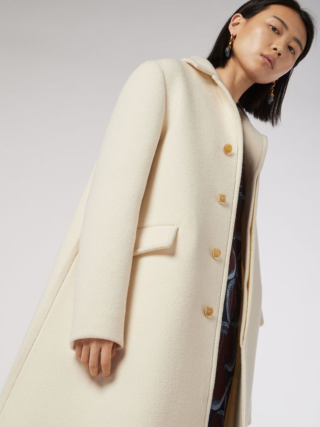 Marni Felted wool twill coat Woman - 5