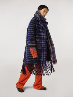 Marni Macro-chequered wool tweed coat Woman