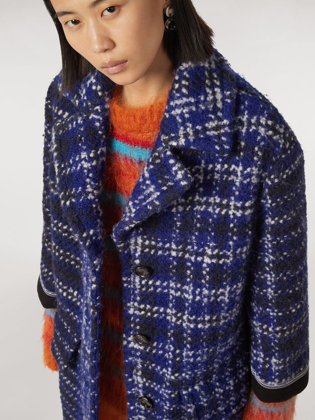 MARNI Coat Woman Macro-chequered wool tweed coat a