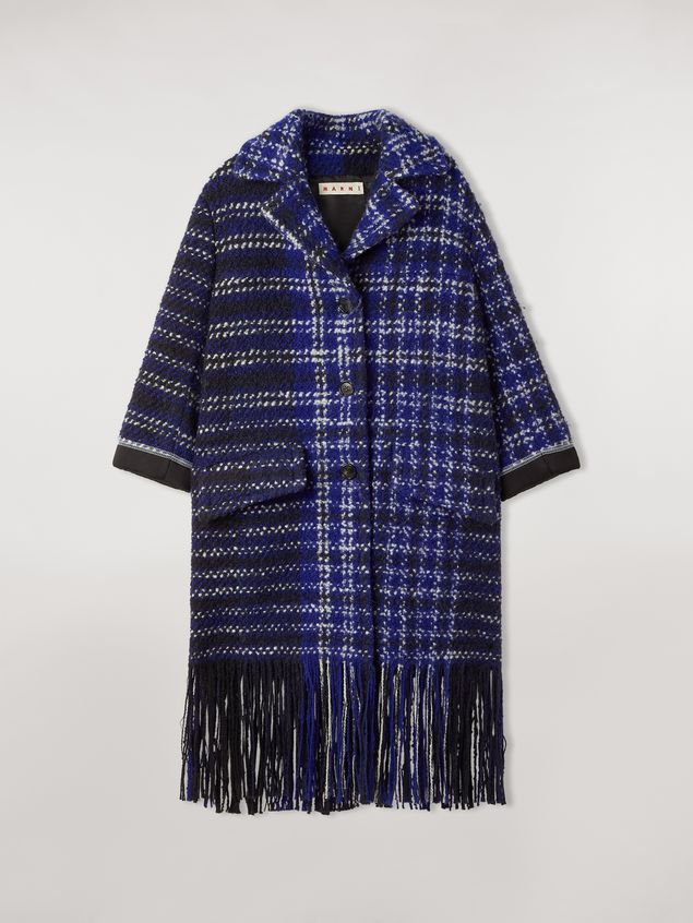 Marni Macro-chequered wool tweed coat Woman - 2