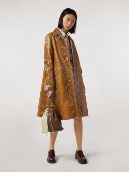 Marni Coat in python-print nappa lambskin Woman