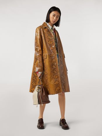 Marni Coat in python-print nappa lambskin Woman f