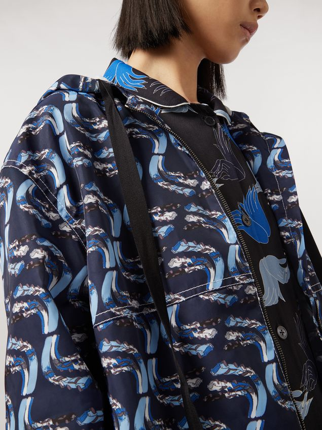 MARNI Sporty Jacket Woman Jacket in faille Firebird print by Bruno Bozzetto a