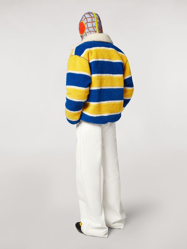 Marni  Striped fleece bomber jacket  Man