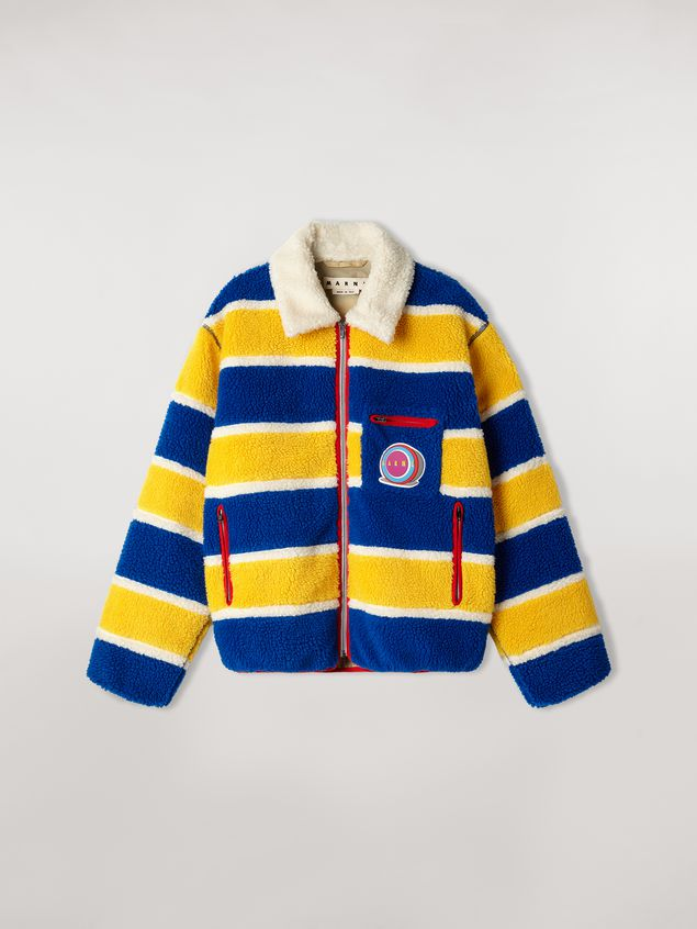 Marni  Striped fleece bomber jacket  Man - 2