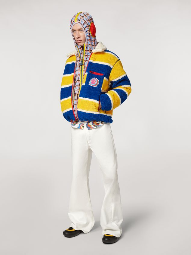 Marni  Striped fleece bomber jacket  Man - 1