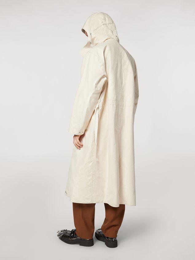 Marni Compact cotton canvas reversible coat Man