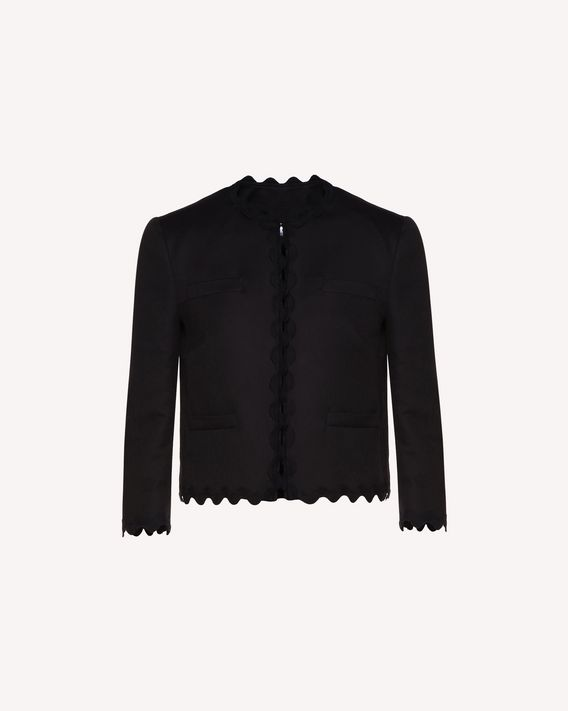 REDValentino Cotton cady jacket with zagana ribbon detail