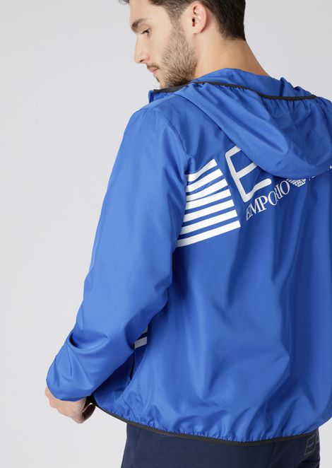 Train 7 Lines tech fabric windbreaker jacket
