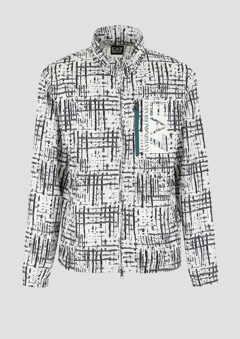 Tech fabric blouson with all-over Train Visibility print