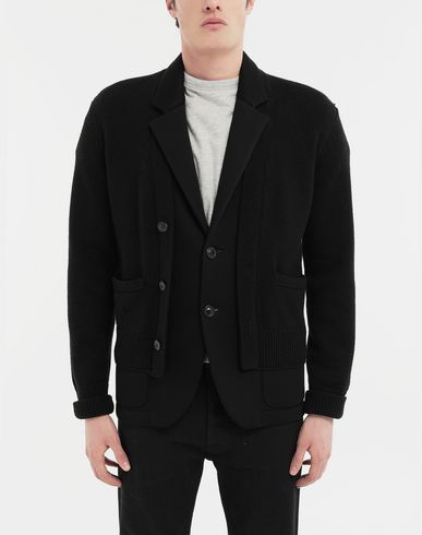 COATS and JACKETS Double layer jacket Black