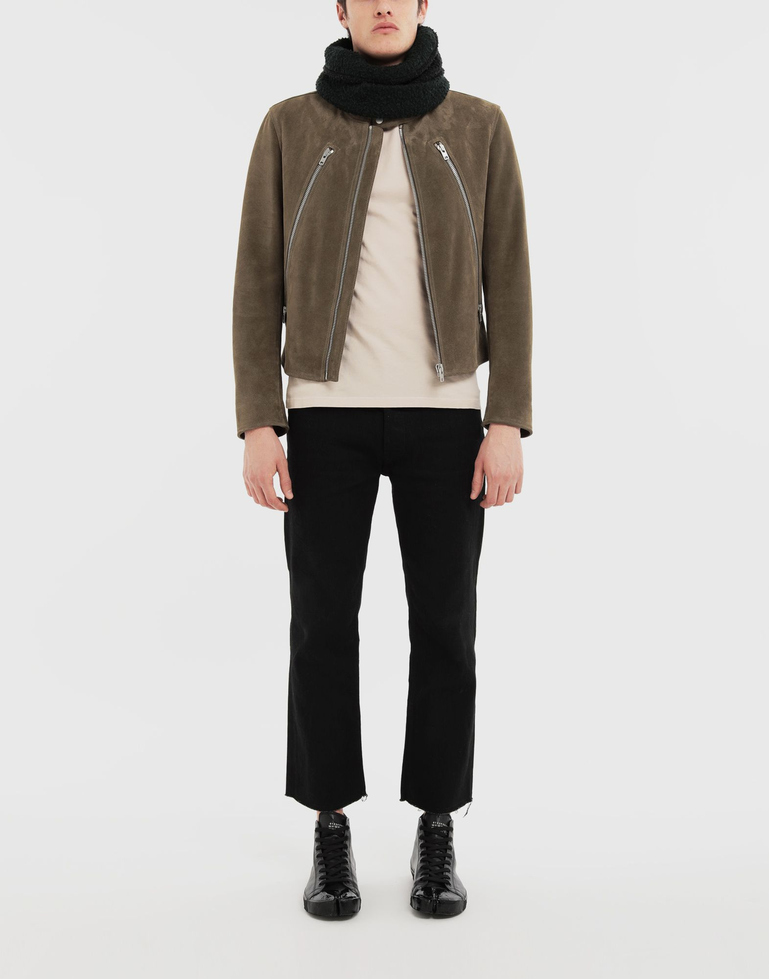 MAISON MARGIELA Leather jacket Leather Jacket Man d