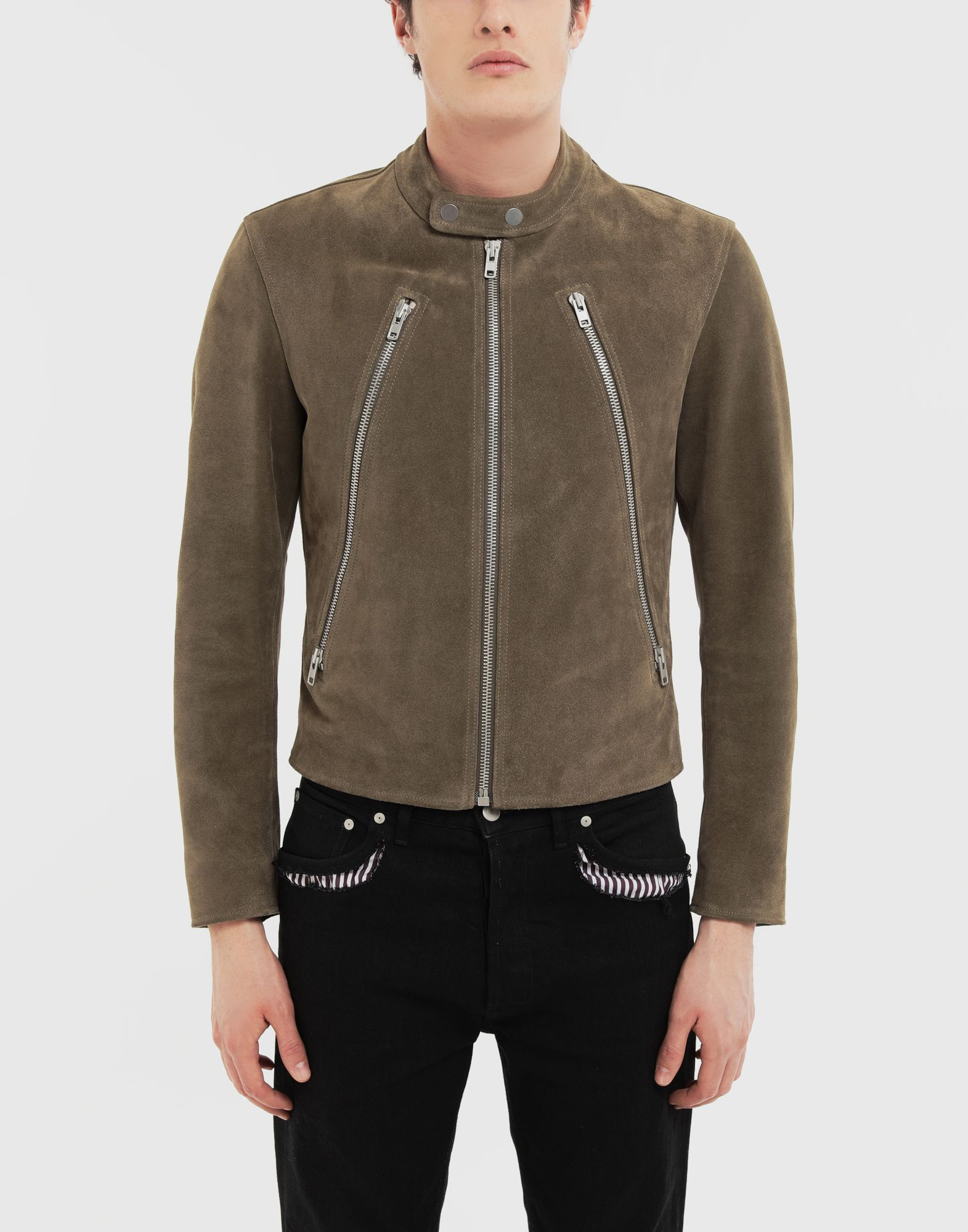 MAISON MARGIELA Leather jacket Leather Jacket Man r