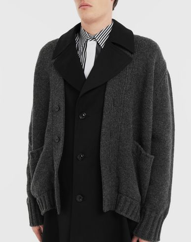 COATS and JACKETS Double layer coat Black