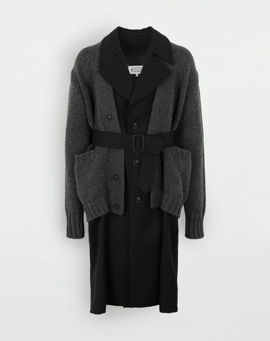 MAISON MARGIELA Double layer coat Raincoat Man f