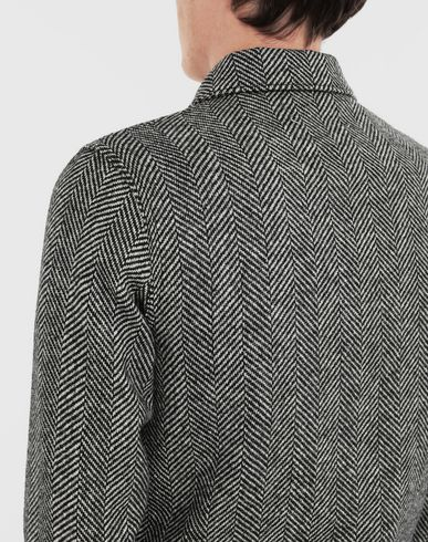 COATS and JACKETS Décortiqué herringbone jacket Black