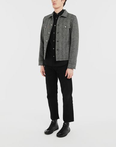 COATS & JACKETS Décortiqué herringbone jacket Black
