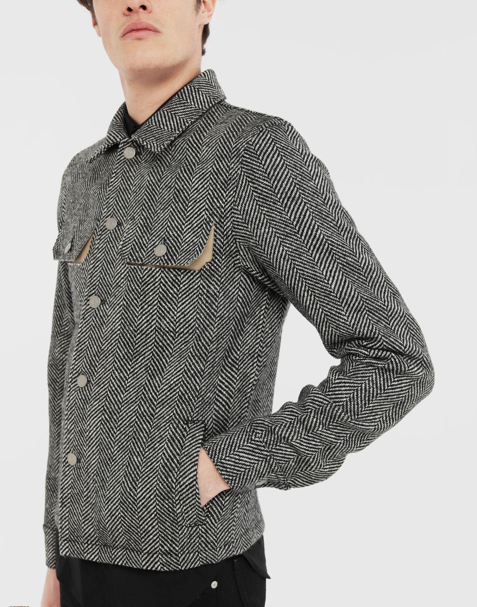 MAISON MARGIELA Décortiqué herringbone jacket Jacket Man a