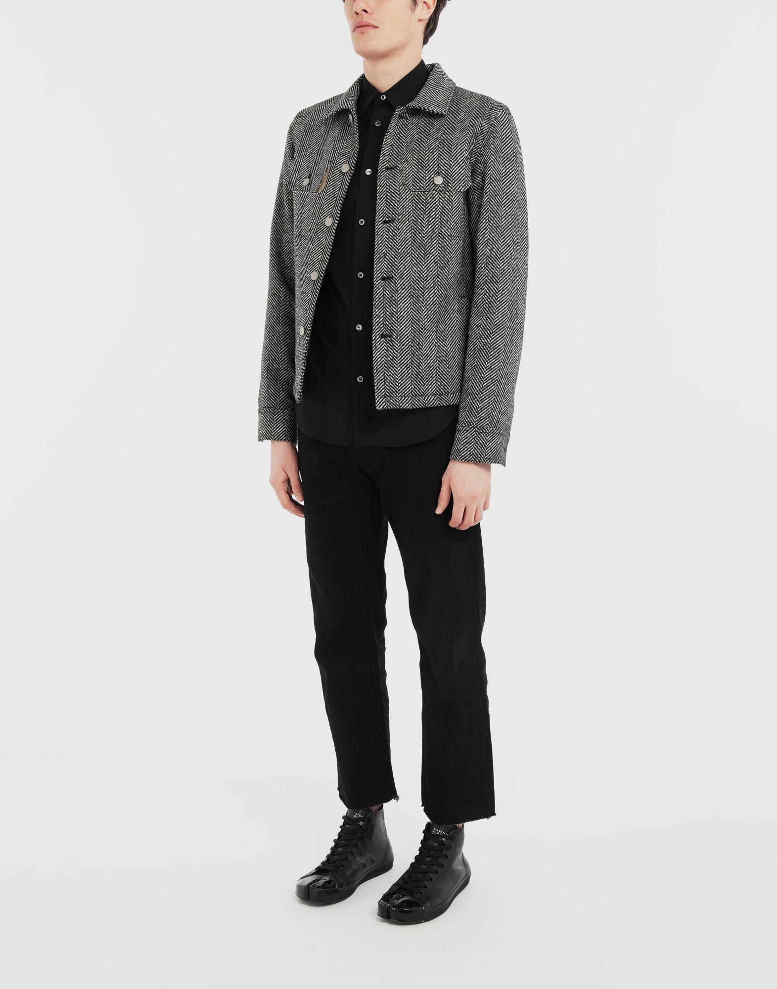 MAISON MARGIELA Пиджак в ёлочку в технике Décortiqué Куртка Для Мужчин d