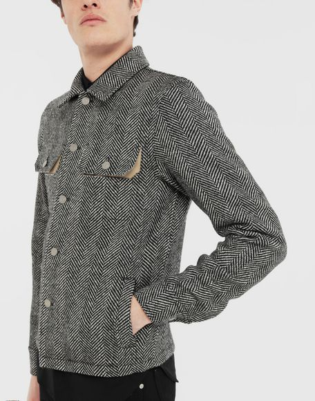 MAISON MARGIELA Décortiqué herringbone jacket Light jacket Man a