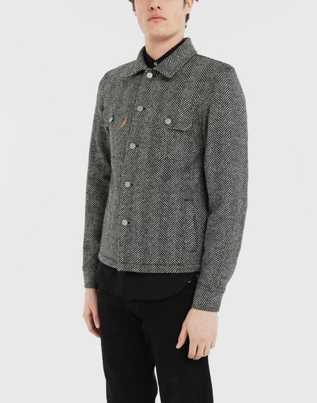 MAISON MARGIELA Пиджак в ёлочку в технике Décortiqué Куртка Для Мужчин r